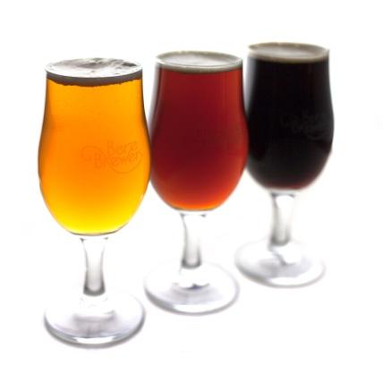 Range of Beers in Glass